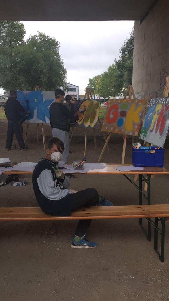 Graffiti Workshop der GFK mit Marco Billmaier